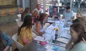 The class in Norah's café