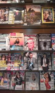 Magazine rack in W&L Bookstore