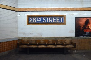 Subway stop at 28th street.